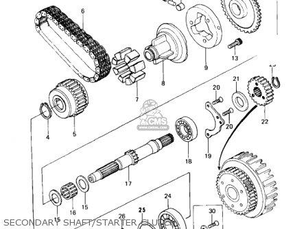 Kawasaki 1979 Kz650-c3 Custom parts list partsmanual