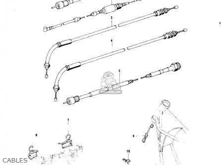 Kawasaki 1979 Kz750-b4 parts list partsmanual partsfiche