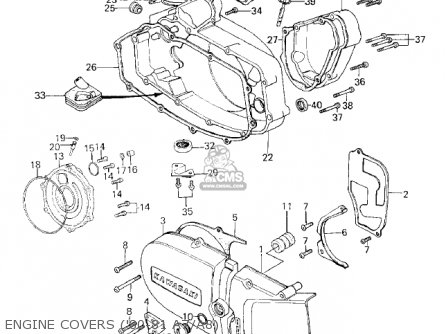 Kawasaki 1980 Ke125-a7 Ke125 parts list partsmanual partsfiche