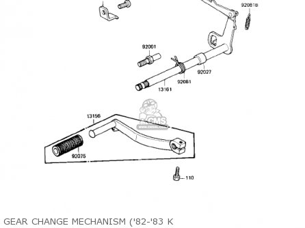 Kawasaki 1980 Ke175-d2 Ke175 parts list partsmanual partsfiche