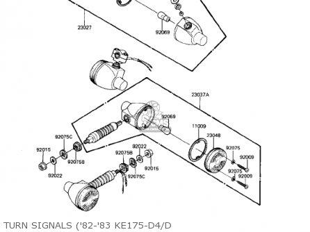 Kawasaki 1980 Ke175-d2 Ke175 parts list partsmanual partsfiche