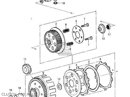 Kawasaki 1980 Kx125-a6 Kx125 parts list partsmanual partsfiche
