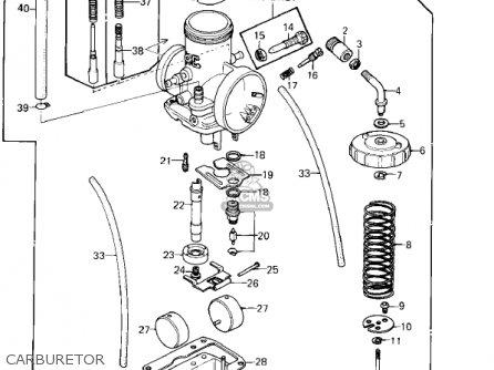 Kawasaki 1980 Kx420-a1 Kx420 parts list partsmanual partsfiche