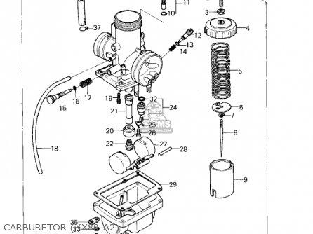 Kawasaki 1980 Kx80-a2 Kx80 parts list partsmanual partsfiche