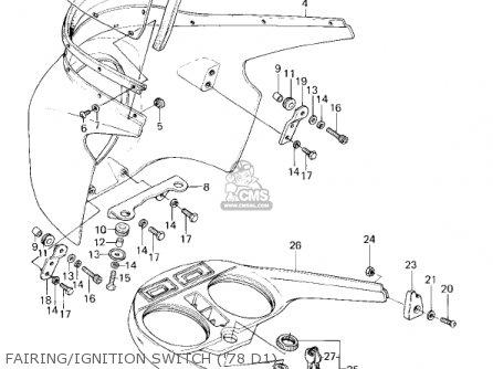Kawasaki 1980 Kz1000-d3 Z1r parts list partsmanual partsfiche