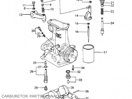 Kawasaki 1980 Kz1000-e2 Shaft parts list partsmanual