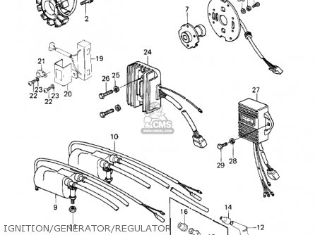 Kawasaki 1980 Kz1000-e2 Shaft parts list partsmanual
