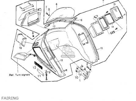 Kawasaki 1980 Kz1300-b2 parts list partsmanual partsfiche