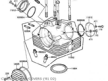 Kawasaki 1980 Kz250-d1 Kz250 parts list partsmanual partsfiche
