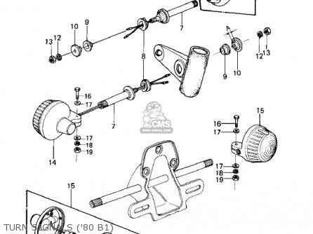 Kawasaki 1980 Kz440-b1 parts list partsmanual partsfiche