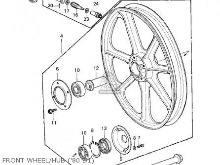 Kawasaki 1980 Kz440-d1 Ltd Belt parts list partsmanual