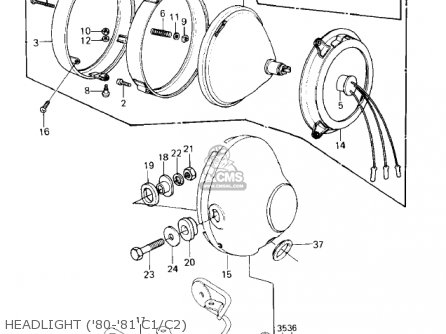 Kawasaki 1980 Kz550-c1 Ltd parts list partsmanual partsfiche