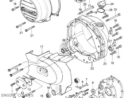 Kawasaki 1980 Kz650-f1 parts list partsmanual partsfiche