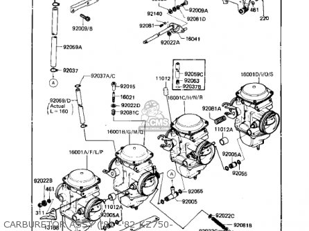 Kawasaki 1980 Kz750-e1 parts list partsmanual partsfiche