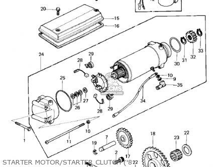 Kawasaki 1980 Kz750-e1 parts list partsmanual partsfiche