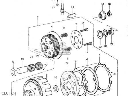 Kawasaki 1981 Kdx420-b1 Kdx420 parts list partsmanual