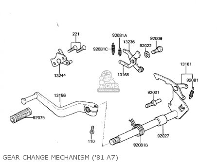 Kawasaki 1981 Kx125-a7 Kx125 parts list partsmanual partsfiche