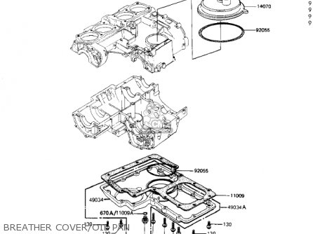 Kawasaki 1981 Kz1000-j1 parts list partsmanual partsfiche