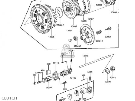 Kawasaki 1981 Kz1000-j1 parts list partsmanual partsfiche