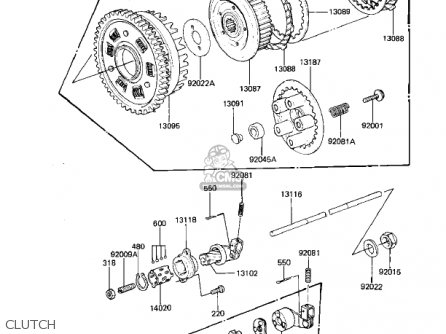 Kawasaki 1981 Kz1000-k1 Ltd parts list partsmanual partsfiche