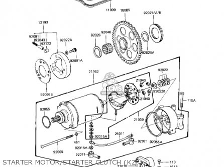 Kawasaki 1981 Kz1100-a1 Shaft parts list partsmanual