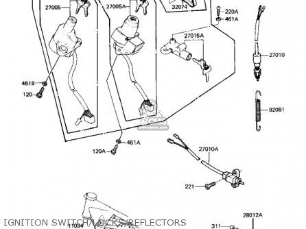 Kawasaki 1981 Kz1100-b1 Gpz parts list partsmanual partsfiche