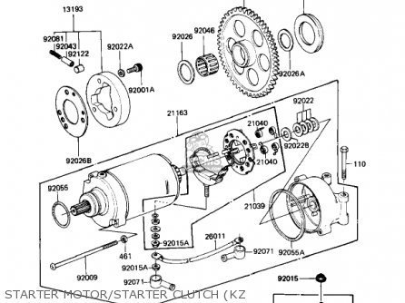 Kawasaki 1981 Kz1100-b1 Gpz parts list partsmanual partsfiche
