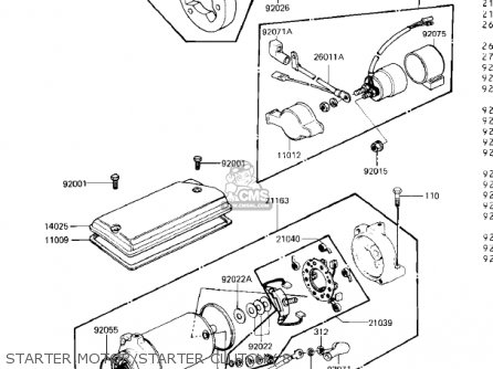 Kawasaki 1981 Kz440-b2 parts list partsmanual partsfiche