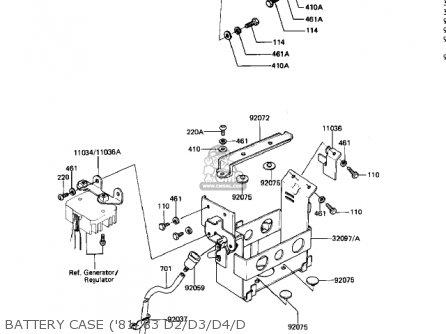 Kawasaki 1981 Kz440-d3 Ltd Belt parts list partsmanual