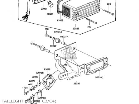 Kawasaki 1981 Kz550-c2 Ltd parts list partsmanual partsfiche