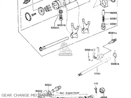 Kawasaki 1981 Kz550-d1 Gpz parts list partsmanual partsfiche