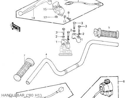 Kawasaki 1981 Kz750-h2 Ltd parts list partsmanual partsfiche