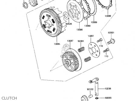 Kawasaki 1982 Ar80-a1 parts list partsmanual partsfiche