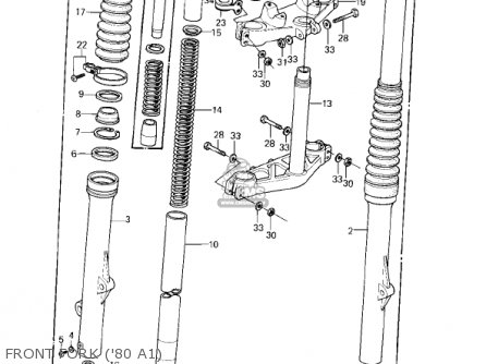 Kawasaki 1982 Kdx175-a3 Kdx175 parts list partsmanual
