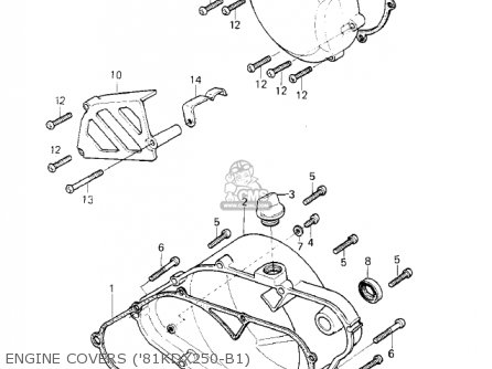 Kawasaki 1982 Kdx250-b2 Kdx250 parts list partsmanual