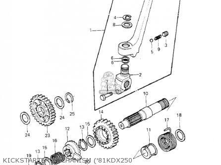 Kawasaki 1982 Kdx250-b2 Kdx250 parts list partsmanual