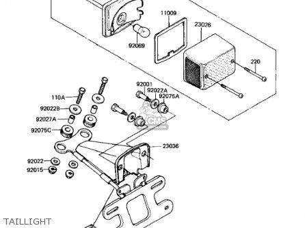 Kawasaki 1982 Kl250-a5 Klr250 parts list partsmanual