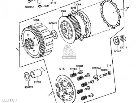 Kawasaki 1982 Kx250-b1 Kx250 parts list partsmanual partsfiche