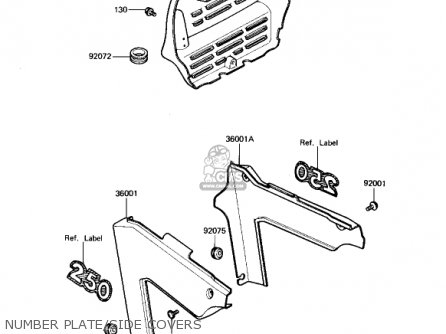 Kawasaki 1982 Kx250-b1 Kx250 parts list partsmanual partsfiche