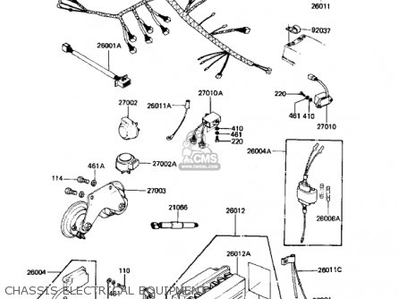 Kawasaki 1982 Kz1000-k2 Ltd parts list partsmanual partsfiche