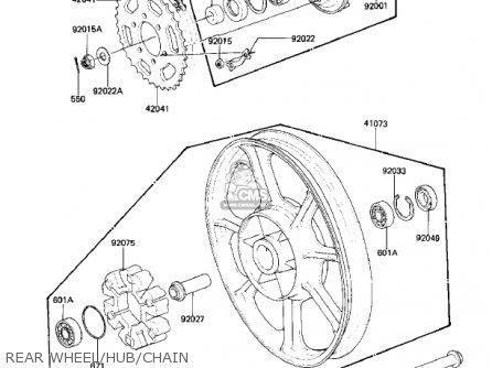 Kawasaki 1982 Kz1000-k2 Ltd parts list partsmanual partsfiche