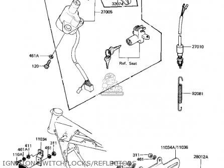 Kawasaki 1982 Kz1000-m2 Csr parts list partsmanual partsfiche