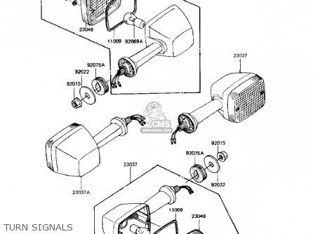 Kawasaki 1982 Kz1000-r1 Eddie Lawson Replica parts list