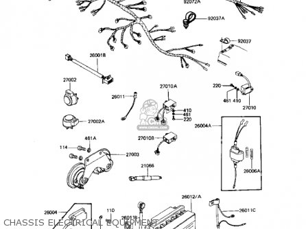 Kawasaki 1982 Kz1100-a2 Shaft parts list partsmanual