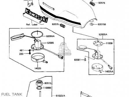 Kawasaki 1982 Kz1100-b2 Gpz parts list partsmanual partsfiche