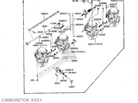 Kawasaki 1982 Kz1100-d1 Spectre parts list partsmanual
