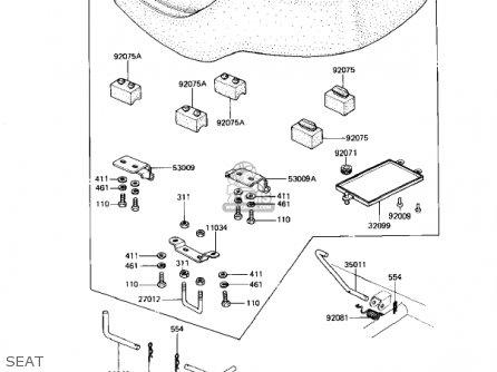 Kawasaki 1982 Kz1100-d1 Spectre parts list partsmanual