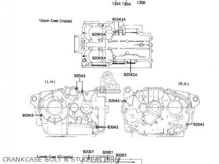 Kawasaki 1982 Kz305-a2 Csr parts list partsmanual partsfiche