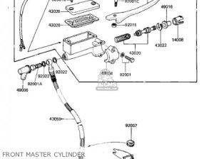 Kawasaki 1982 Kz305a2 Csr parts list partsmanual partsfiche