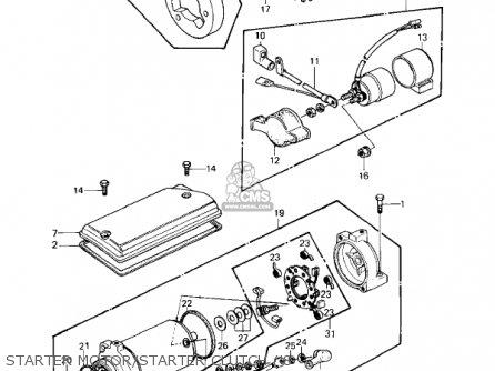 Kawasaki 1982 Kz440-a3 Ltd parts list partsmanual partsfiche